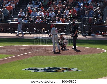 Phillies Jayson Werth Steps Into The Batters Box