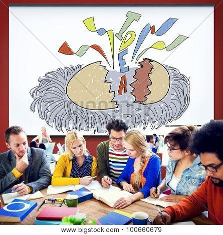 Creativity Idea Imagination Reveal Surprise Concept