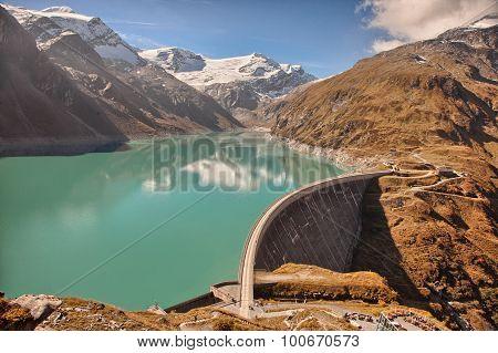 Mooserboden high altitude reservoir near Kaprun - Zell am See Austria