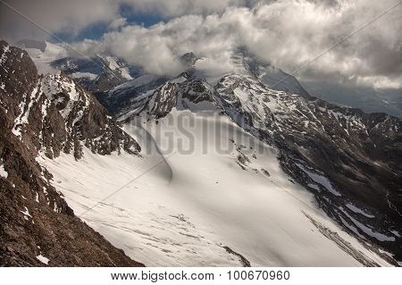 Mountain peaks snow and glaciers near Kaprun - Zell am See Austria