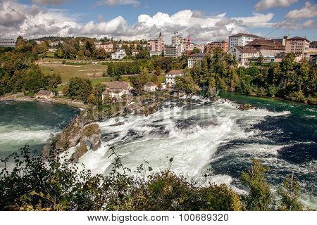 Rhine Falls - largest waterfall in Europe Schaffhausen Switzerland
