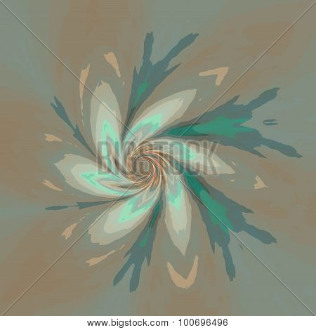 Vanishing background design. Cool visual pic. Black hole. Colour mix. Bright wavy warp. Element.