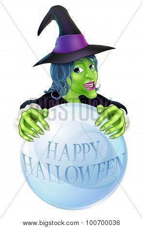 Halloween Witch And Crystal Ball