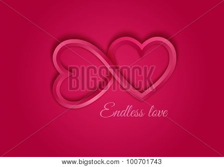 Red endless love symbol.
