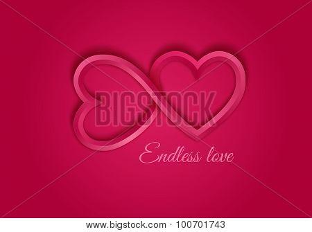 Red endless love symbol.