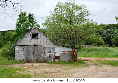 Rustic storage shed