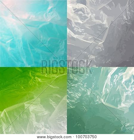 Abstract water backgrounds with waves colorful set