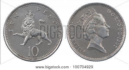 Ten Pence Coin