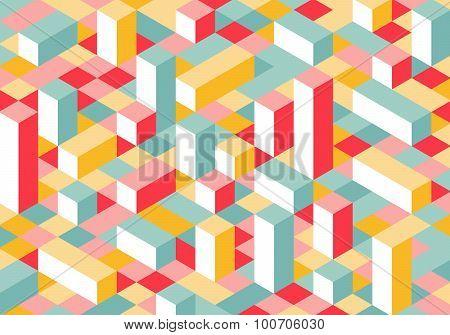Modern Flat Isometry Background
