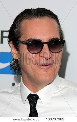 LOS ANGELES - AUG 29:  Joaquin Phoenix at the Mercy For Animals Hidden Heroes Gala at the Unici Casa on August 29, 2015 in Culver City, CA