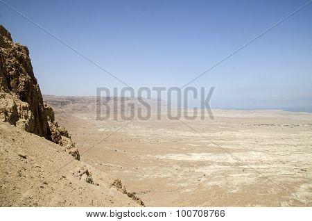 Sandstorm Beginning In Israel Desert