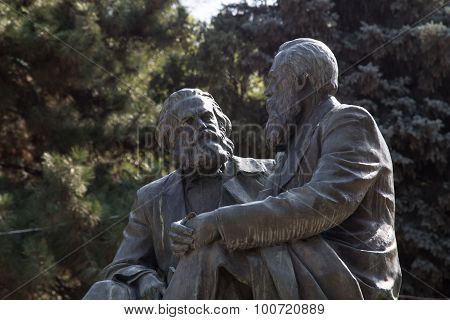 Marx and Engels monument