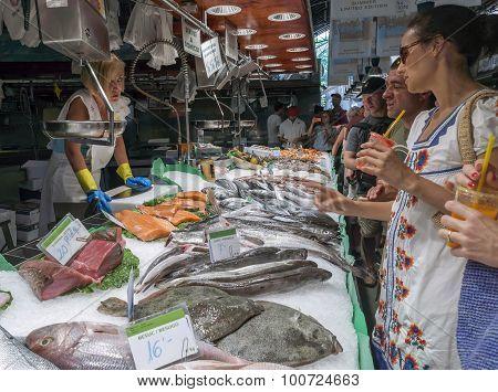Fish At The Boqueria Market