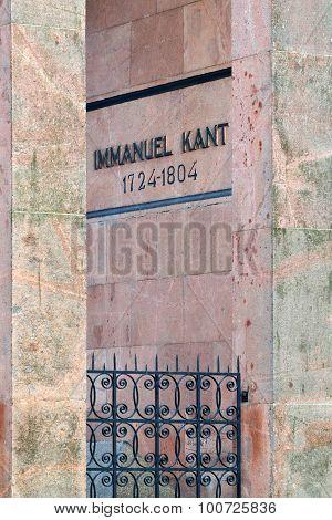 Tomb Of Immanuel Kant. Kaliningrad, Russia