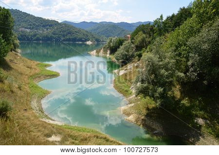 View Of The Lake Of Salto In Abruzzo, Italy 53