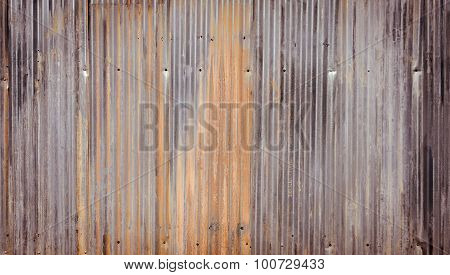 Corrugated Metal Wall Background