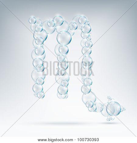 sign of the zodiac bubble soap