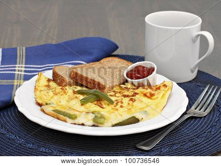 Egg, Bell Pepper And Cheese Omelet.