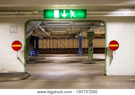 Portal In Multi-storey Car Park