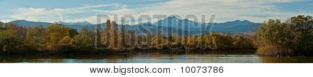 Golden Ponds and Longs Peak Panorama