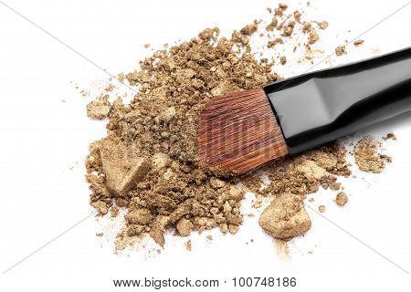 the Professional make-up brush on crushed eyeshadow poster