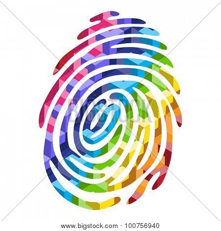 Abstract Color finger print. Vector fingerprint