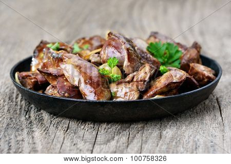 Chicken Liver In Frying Pan