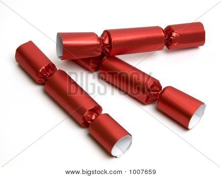 Three Red Party Crackers