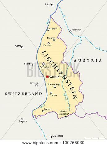 Liechtenstein Political Map