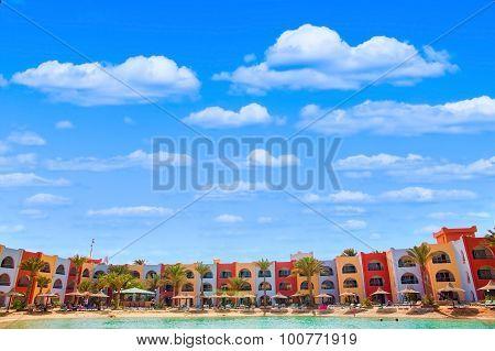 View On Lagoon Beach In Arabia Azur Resort