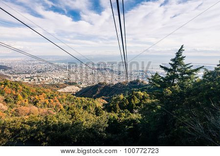 Aerial View Of Kobe City From Mount Maya Ropeway, Japan