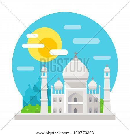 Taj Mahal Flat Design Landmark