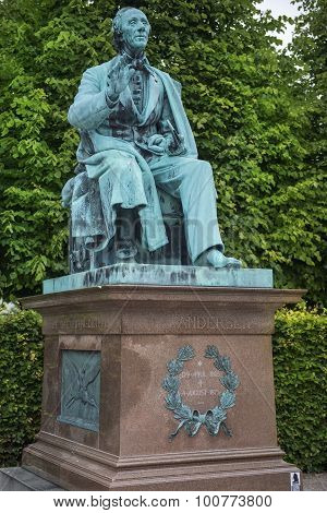 Monument To Hans Christian Andersen In Kings Garden In Copenhagen
