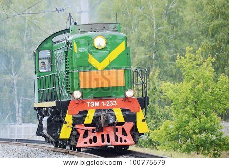 Retro Shunting Diesel Locomotive.