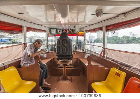People Travel By Boat In Bangkok, Thailand