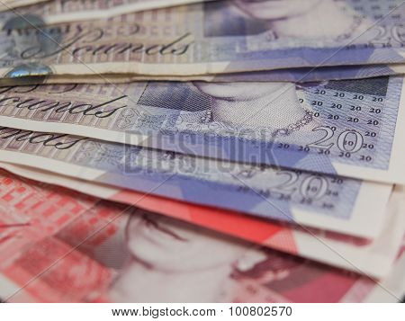 LONDON UK - CIRCA JULY 2015: Sterling pound GBP banknotes currency of the United Kingdom