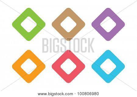 Vector square icon. Square abstract logo template. Square vector, tech square icon. Square symbol and square shape symbol. Square isolated. Square vector logo. Square company logo