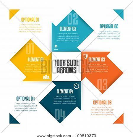 Four Slide Arrows Infographic