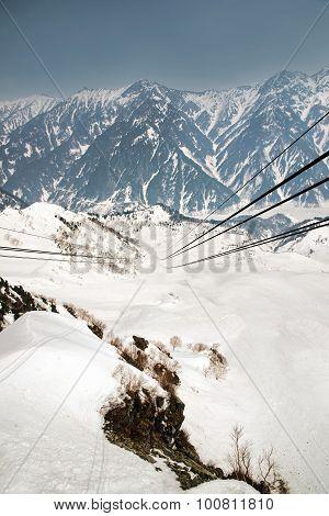 Japan Alps ,cable Car Station, Shinhotaka Ropeway, Takayama Gifu, Japan