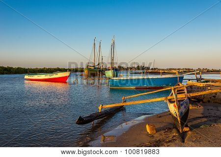 Morning In The Morondava Fishing Port