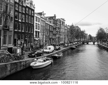 Water canal in Amsterdam city centre