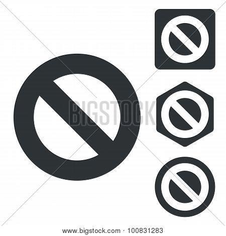 NO icon set, monochrome