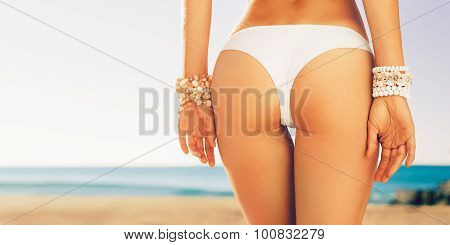 Woman Buttocks Slim Figure, Beach Accessories, Bracelets