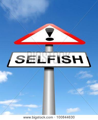 Selfish Concept.