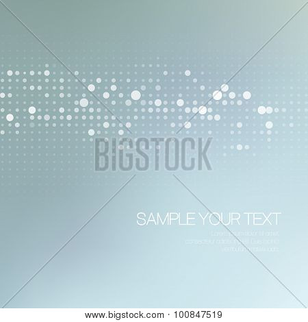 Modernistic abstract dot tech background. Vector illustration