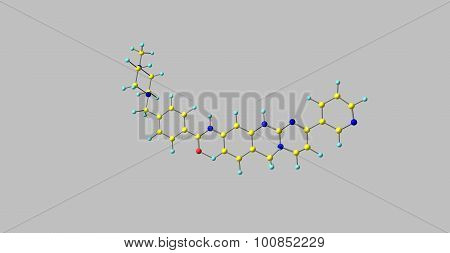 Imatinib molecular structure isolated on grey