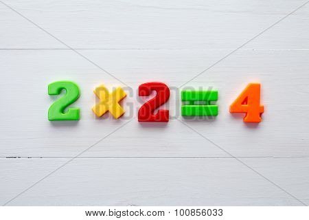 Math Example With Color Numbers