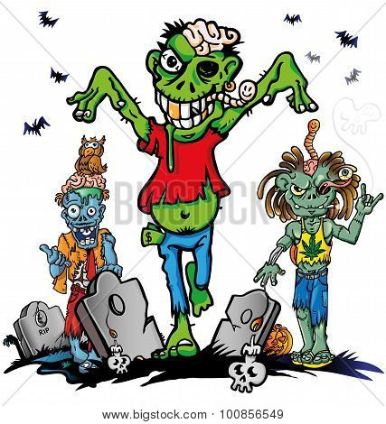 fun zombie cartoon