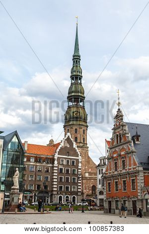 Lutheran Church Of St Peter In Riga