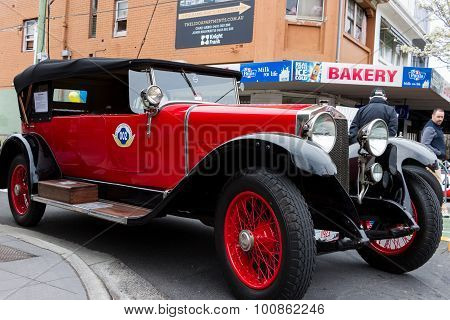 Red Post War European Motorcar